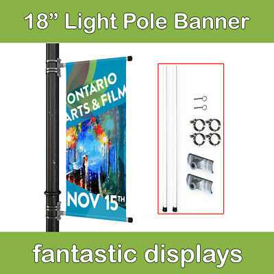 """18"""" Street Pole Banner Mounting Kit for Hemmed Banners with Pole Pockets"""