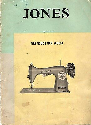 JONES SEWING MACHINE Model 105 Instruction CD Disc Manual & Parts List.