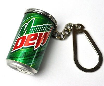 Pepsi Cola Mountain Dew mini Dose Schlüsselanhänger Can Key Chain USA 1998