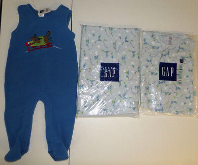 Lot Baby Gap NEW Vtg 6-12 mos Sleeper Receiving Swaddle Blanket Cotton Romper A1