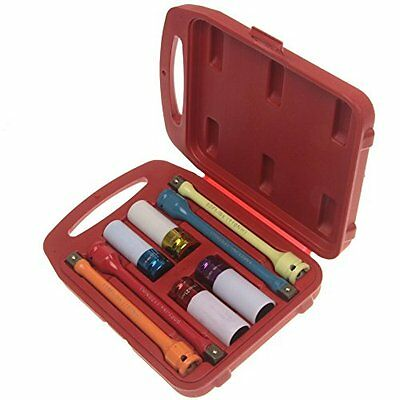 Anytime Tools TORQUE Extension Bar Stick and Thin Wall Impact Socket Set 8 Piece