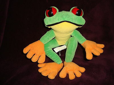 "Rainforest Cafe Tree frog 7"" Long Plush and beans"