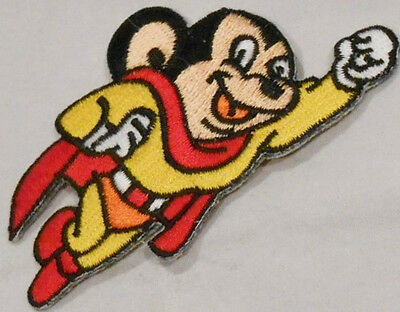 """Mighty Mouse TV Show Character Flying 3/"""" Embroidered Patch"""