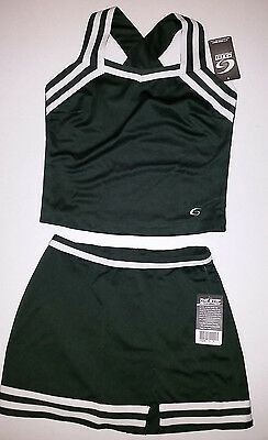 GTM Cheer uniforms NWT Forest green No logo Perfect for teams! adult lg 40b 32w