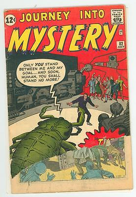 Journey Into Mystery 82 1.0  Nice Pages Super Glossy 1962 Pc