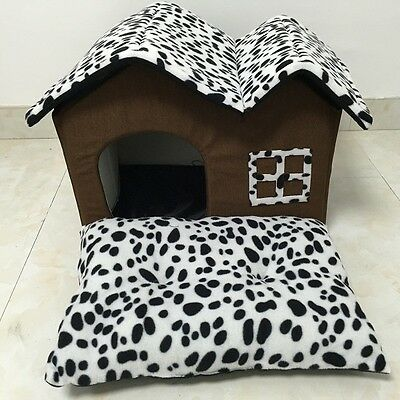 Luxury Spot Double Top Portable Pet House Dog Cat Warm Cozy Sleep Bed Puppy Bed