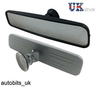 Car Interior Wide Rear View Mirror 29 Cm Adjustable Suction Adhesive Windscreen
