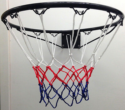 Fxr Basketball Ring Official Size (45Cm) With Hoop Net & Wall Mounting Fixings