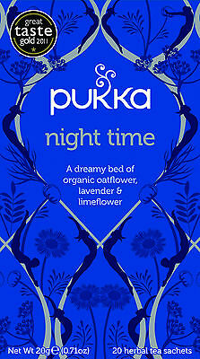 Pukka Tea Night Time Organic Herbal 20 Teabags