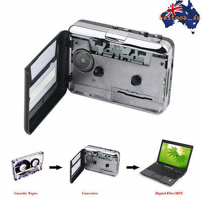 Tape to PC USB Cassette & MP3 CD Converter Capture Digital Audio Music Player S#
