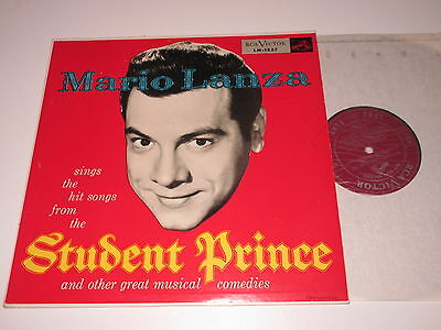 Lp/mario Lanza/the Student Prince/rca Lm 1837