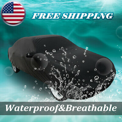 Black Rain Protection Waterproof Car Cover Fitted Outdoor Universal 3XXL