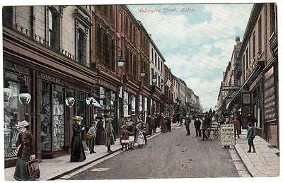 Early   LUTON  Wellington  Street  Bedford  Postcard