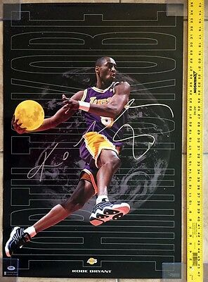 KOBE BRYANT SIGNED AUTOGRAPHED ORIGINAL 23x35 COSTACOS POSTER LAKERS PSA/DNA
