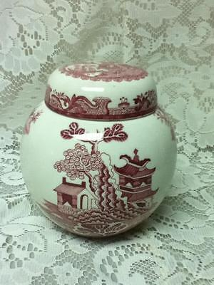 Vintage, Rare, Masons, England,  2 pc, 5.5in Red Willow Ginger Jar