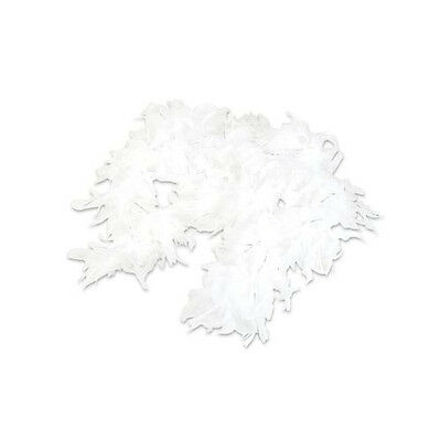 White Feather Boas with Tinsel (12 Pack) 6', 60 grams Party Costume Feather Boa