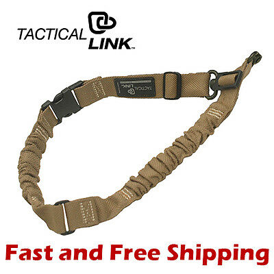 Tactical Link QD 1 & 2 Point Convertible Bungee Tactical Sling - Dark Earth
