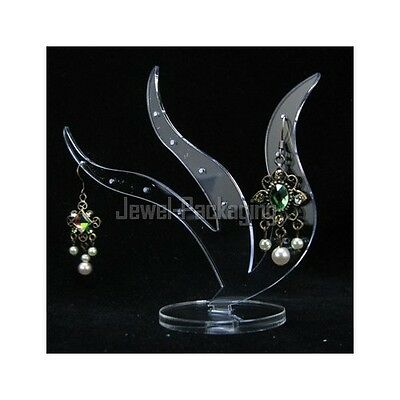 Clear Acrylic Seaweed Jewelry Display Earring Showcase Stand CL182