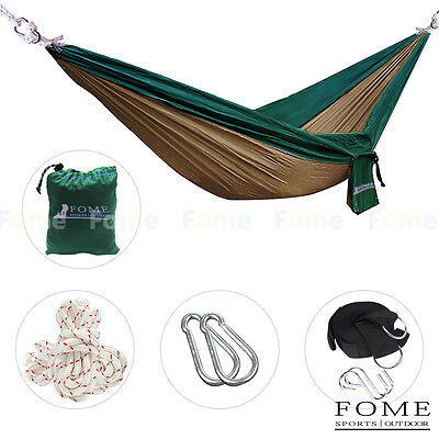 FOME Leisure Double Two Person Hammocks + Long Tree Hanging Adjustable Straps