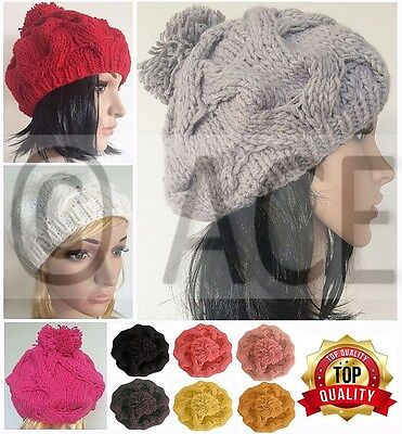 Ladies Hat Womens Hats Women Baggy Slouch Beanie French Wool Winter Beret Hat