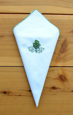12 Cloth Napkins Embroidered Fancy Party Wedding Events Christmas Decoration