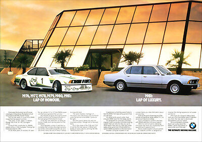 BMW 635 CSi RACER & 735i RETRO A3 POSTER PRINT FROM CLASSIC ADVERT