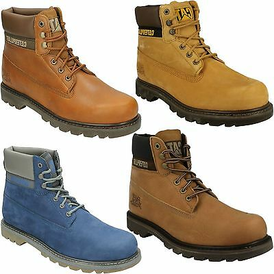 Colorado Mens Caterpillar Combat Walking Hiking Shoes Casual Leather Ankle Boots