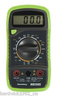 Bright GREEN Digital Multimeter 8 Function + Thermocouple Hi-Viz Green