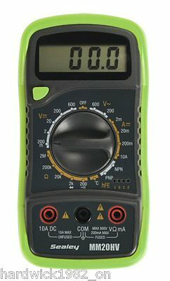 NEW! Bright GREEN Digital Multimeter 8 Function + Thermocouple Hi-Viz Green
