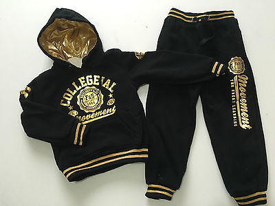 BNWT Boys Girls Black or Grey Movement Design Joggging /Tracksuit Ages 4 - 13