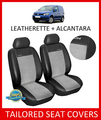 Leatherette + Alcantara Tailored seat covers for VW CADDY 2003 - ON Van 1+1