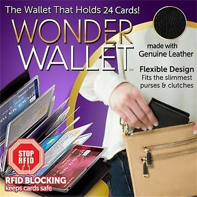 Wonder Wallet Leather Credit Card ID Business RFID Wallet Slim Purse 24Cards