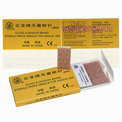 Cloud&Dragon Ear Acupuncture Disposable intradermal Tack Press Needles 100 pc/BX