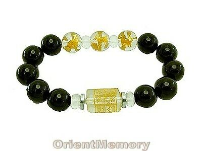 12mm 3 Zodiac Allies Onyx Bracelet (Boar, Sheep and Rabbit)