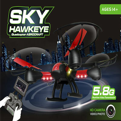 FPV Drone Sky Hawkeye 1315S Quadcopter with Live HD Video Camera LCD 2.4G 6 Axis