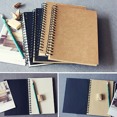 Reeves Hard Back Spiral Bound Coil Sketch Book Blank Paper Kraft Sketching Paper