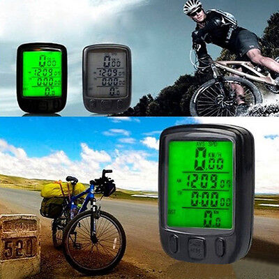 Cycle Bike Bicycle GPS Computer Odometer Speedometer Fashion Modern LCD Light