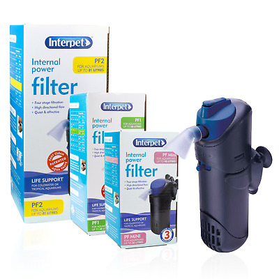 Interpet Internal Power Filter Submersible Aquarium Water Filtration Fish Tank