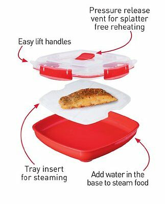 Sistema Microwave Plate with Removable Poaching/Cooking Tray - 1.3 L