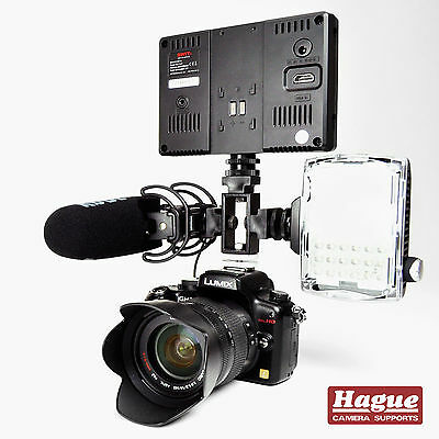 Hague Triple Camera Accessory Shoe Bracket for DSLR Cameras and Camcorders (TSB)