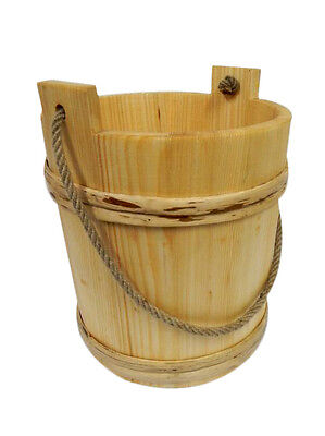 Wooden Bucket with handle - old style very solid NEW