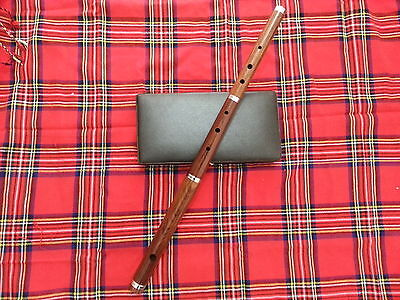"Irish Professional D Flute with Hard Case 23"" Length 3 Pcs Natural Finish"
