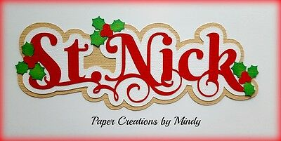 Craftecafe Mindy Christmas St. Nick  title premade paper piecing scrapbook page