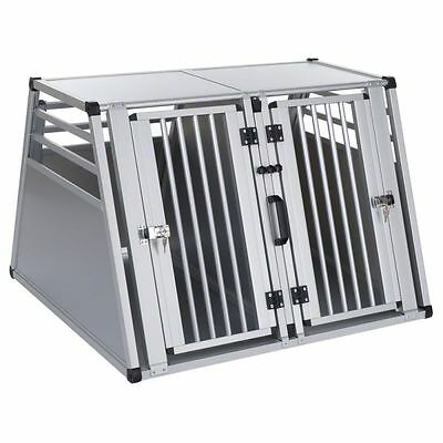 Double Dog Crate Cage Animal Transport Transporting Car Travel Safe Shelter New