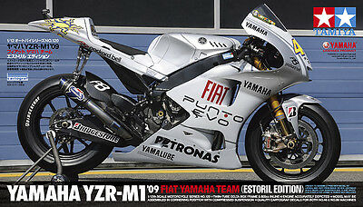 Tamiya Yamaha YZR-M1 2009 Fiat Team Estoril Model Bike 1/12 Scale 14120