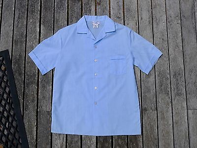 Vintage retro true 80s age 10 unused childrens boys top shirt NOS blue