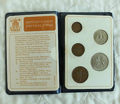 Britains First Decimal Coins - Royal Mint 5 Coin Set
