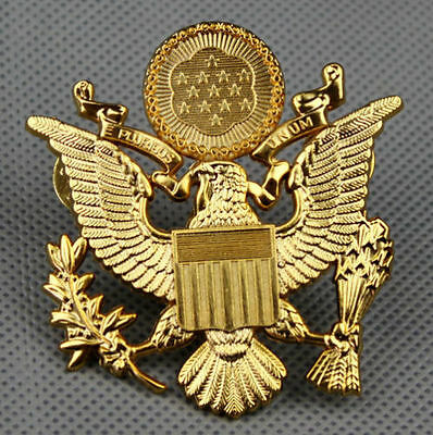 Wwii Us Army Officer Cap Eagle Badge Insignia Hat  -A05