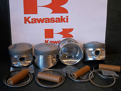 KAWASAKI Z750 KZ750 GT750 GPZ750 PISTON KITS (4) NEW +0.5mm OVERSIZE KiR P11050