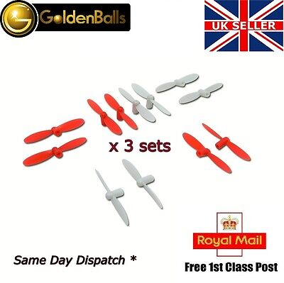12pcs Blades Propellers Spare Parts For Hubsan Q4 Nano H111 Mini Quadcopter UK